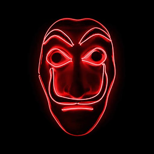 Money Heist Dali Mask LED Red