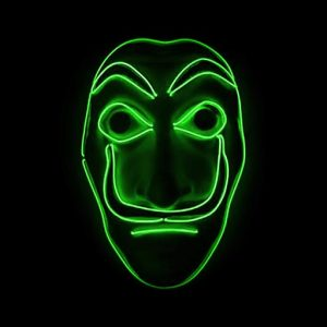 Salvador Dali Mask Money Heist LED Green