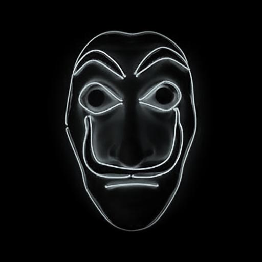 Salvador Dali Mask Money Heist LED White