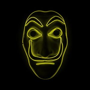 Salvador Dali Mask Money Heist LED Yellow