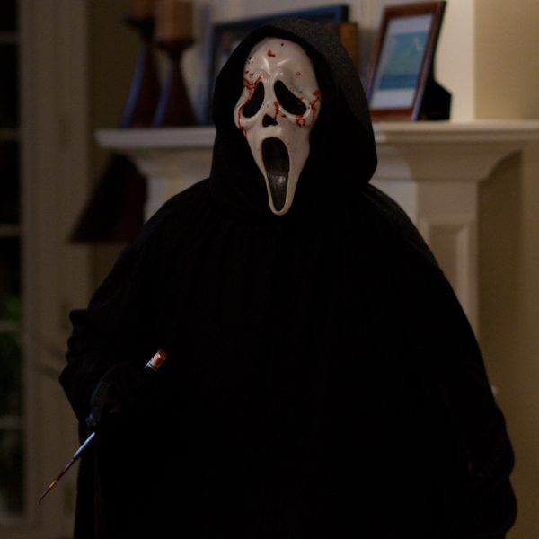 ghostface scream with blood on the face