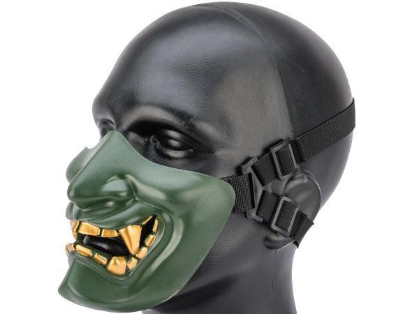 half mask Oni Teeth Green
