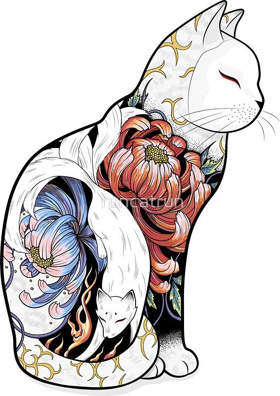 kitsune cat wallpaper