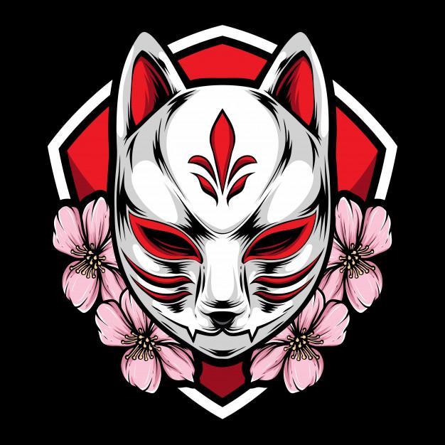 kitsune sakura mask design