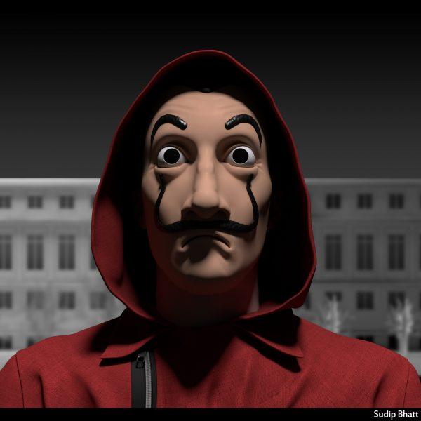 money heist dali mask bank