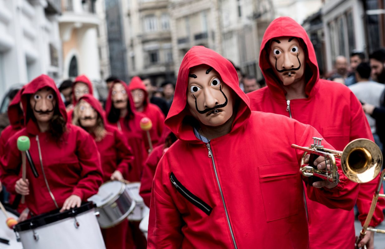 money heist in madrid street