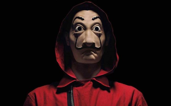 Salvador Dali Mask Money Heist LED Red