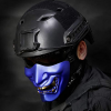 Oni Airsoft Mask Blue Half Face