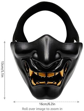 oni face mask teeth size
