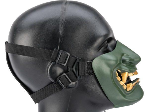 Oni Mask Teeth Green Half Mouth