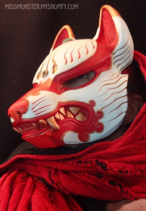 oni mask red