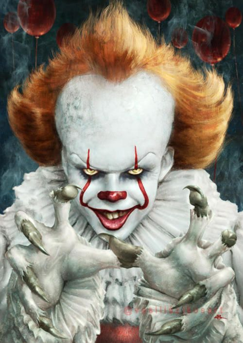 pennywise wallpaper drawing