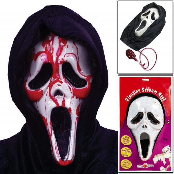 Scream Mask With Blood For Halloween