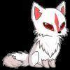 white kitsune cat